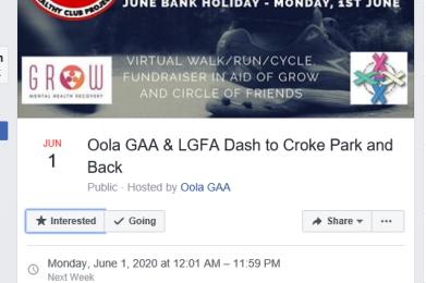 GAA club fundraiser for GROW